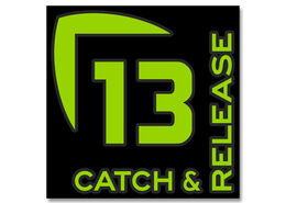 13 Fishing Catch and Release Vinyl Decal - Medium - Green