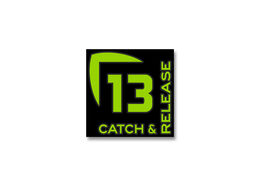 13 Fishing Catch and Release Vinyl Decal - Small - Green