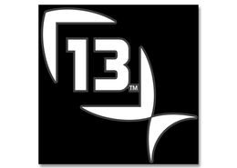 13 Fishing Vinyl Decal - White - Medium