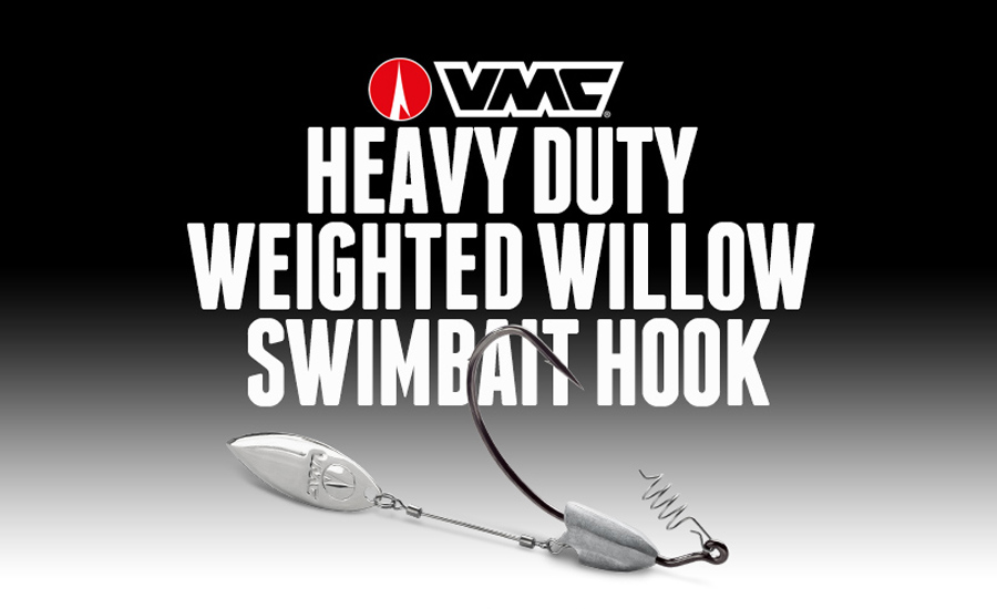 VMC® DEBUTS HEAVY DUTY WEIGHTED WILLOW SWIMBAIT HOOK