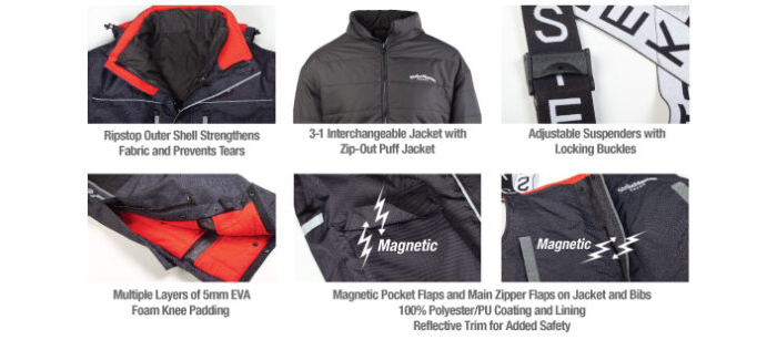 StrikeMaster Pro Jacket and Pro Bibs features